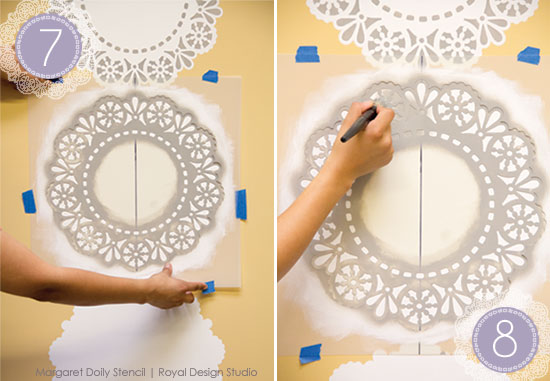 Lace-Doily-Stencil-how-to-step-7-8-gray-paint