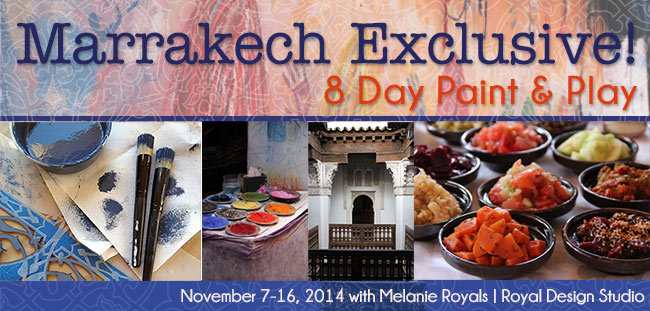 Morocco International Painting Trip 2014 with Melanie Royals of Royal Design Studio