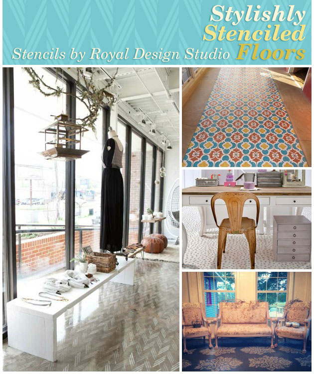 Stylishly Stenciled Floors | Royal Design Studio