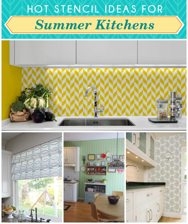 Hot Stencil Ideas for Summer Kitchen | Paint + Pattern