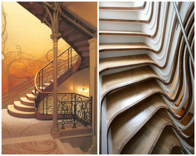 Art Nouveau vs Art Deco Styles in Staircase | Paint + Pattern