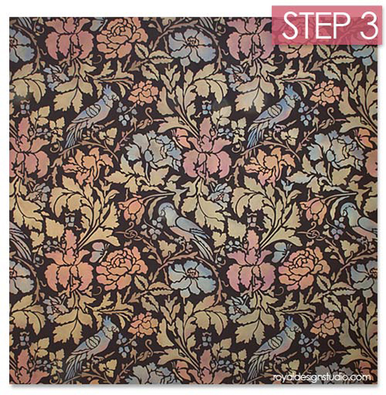 Stencil-creme-add-color-antiquing-step-3-allover-wall-pattern