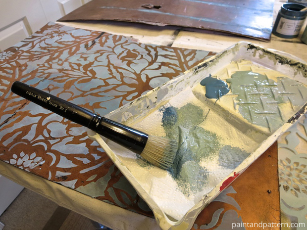Stenciling on metal | Paint + Pattern