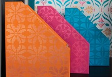 Colorful DIY Organizing Ideas with Stencils