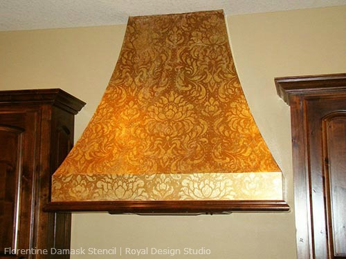Stenciled-Range-Hood-allover-pattern