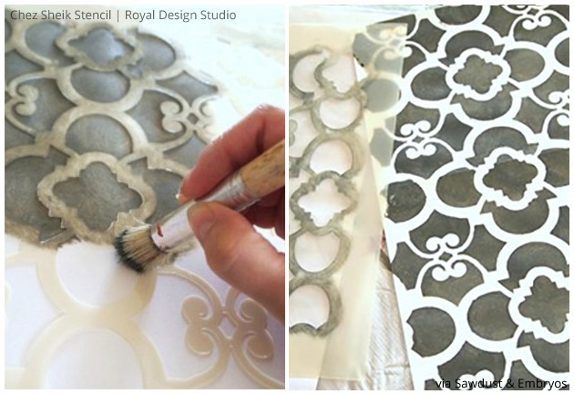 Stenciling A Dollhouse Via Sawdust And Embryos | Stencils By Royal Design  Studio | Paint + Part 77
