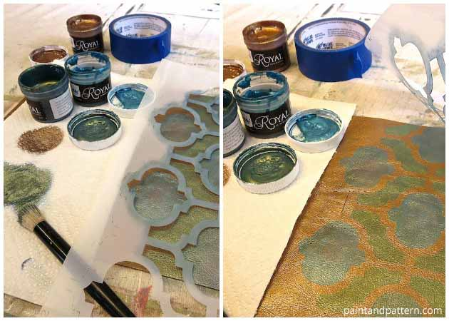 Stenciling the DIY Brush Holder | Paint + Pattern