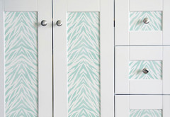 Zebra_Striped_Wall_Stencil_on_Dresser_Stenciling_Tips