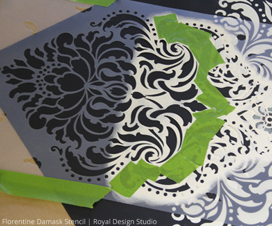 floorcloth-stenciled-how-to-black-and-white