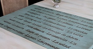 Furniture Stenciling: French Menu Lettering Stencil