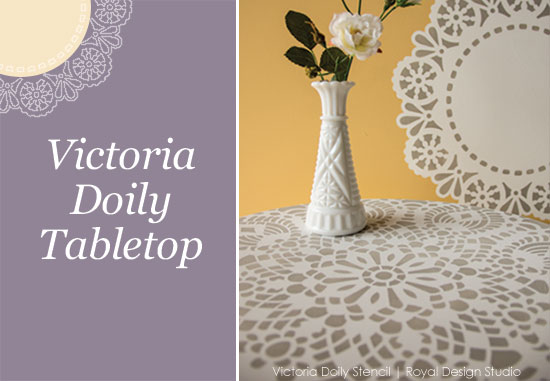 stenciled-table-with-lace