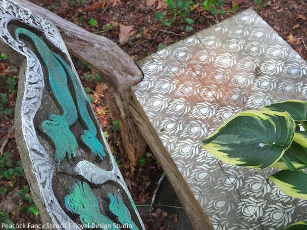 Stenciling an Outdoor Bench with Chalk Paint®   Paint + Pattern