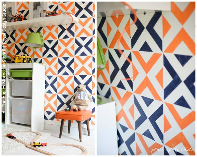 Stenciled Boys Room with Royal Design Studio Stencils | Paint + Pattern