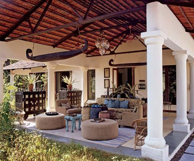 British Colonial Style at Baghvan Safari Lodge, India via Architectural Digest | Paint + Pattern
