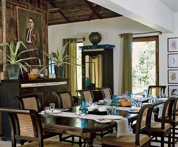 British Colonial Style at Baghvan Safari Lodge via Architectural Digest | Paint + Pattern