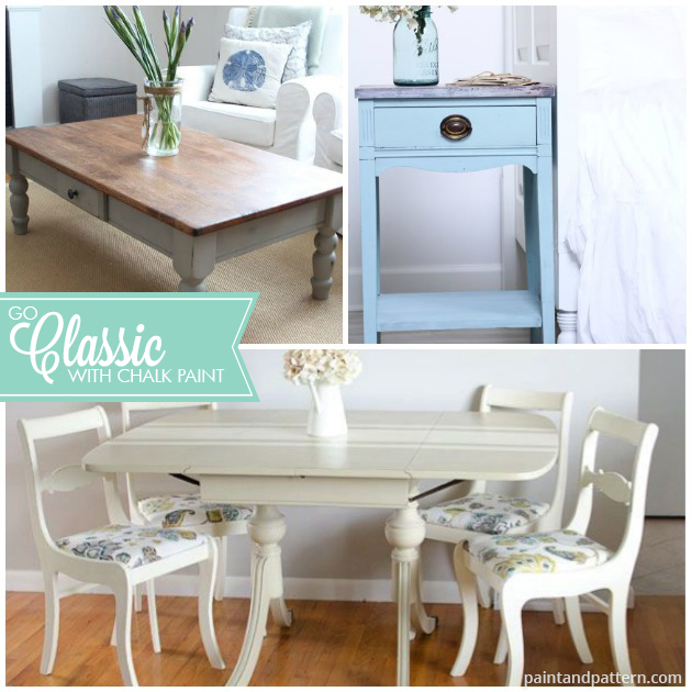 Chalk Paint® used for classic furniture painting projects. Pretty images via Paint and Pattern