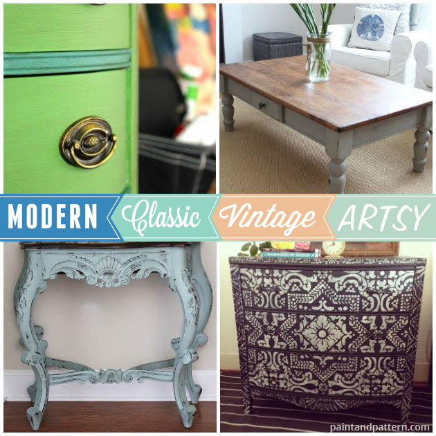 Chalk Paint® used with many different styles of furniture. So versatile!! via Paint and Pattern