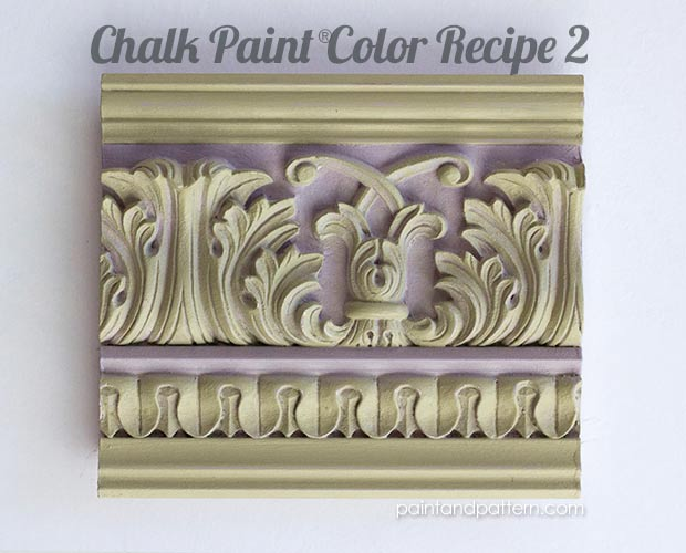 Great Chalk Paint color recipes for painted moldings and furniture. via Paint + Pattern
