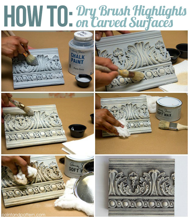 Chalk Paint Techniques: Dry brush with Chalk Paint® on Paint and Pattern