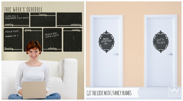 Organize your life with Chalkboard Wall Decals by Wallternatives | Paint + Pattern