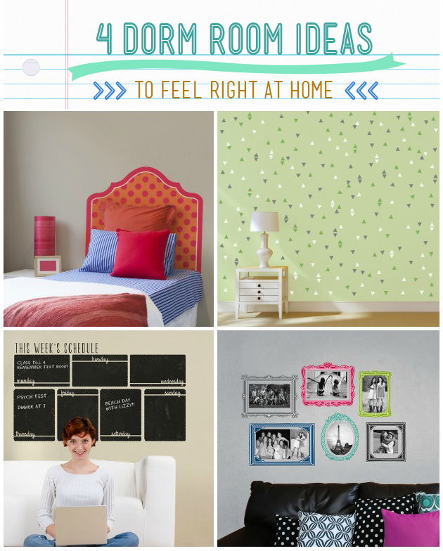 4 Dorm Room Ideas to feel right at home   Wallternatives Wall Decals