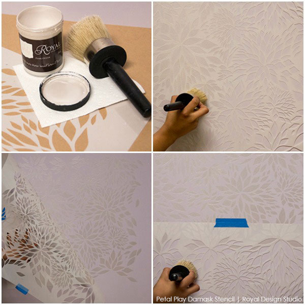 How to stencil fabulously easy stencil fiinishes with Royal Stencil Cremes from Royal Design Studio