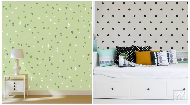 Get the Wallpaper Effect with Mighty Minis by Wallternatives | Paint + Pattern