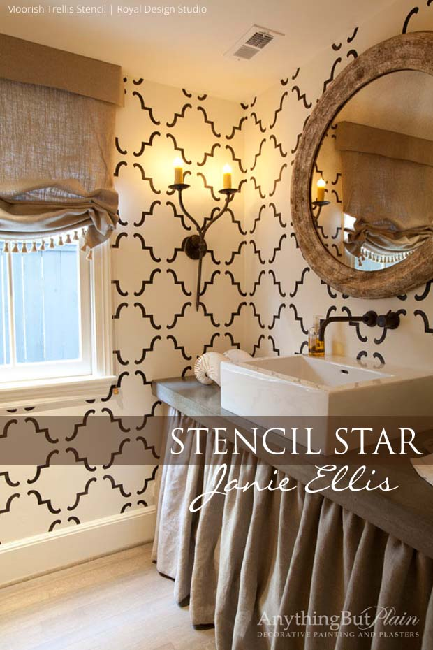 Large Moorish Trellis Stencil by Royal Design Studio via Anything But Plain