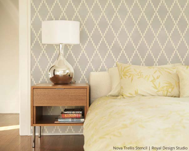 Nova Trellis Stencil | Royal Design Studio