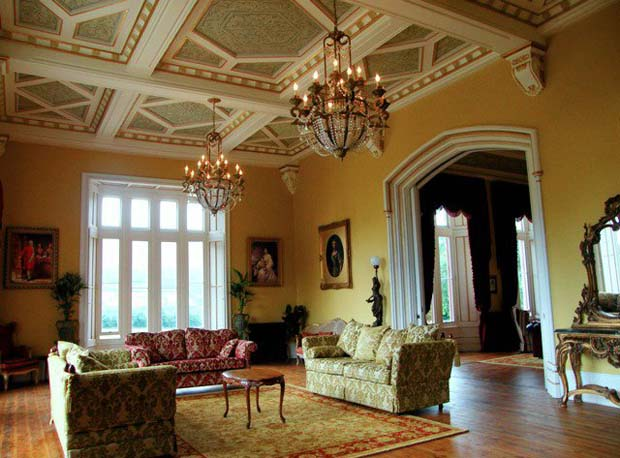 Get this look on coffered ceilings with Modello Stencils | Paint + Pattern