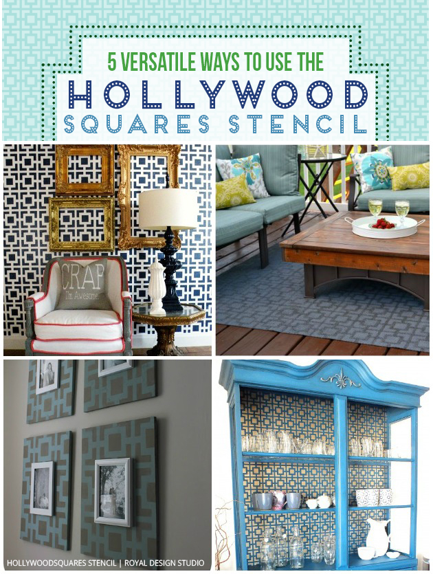 5 Clever Ways to Use the Hollywood Squares Stencil | Royal Design Studio