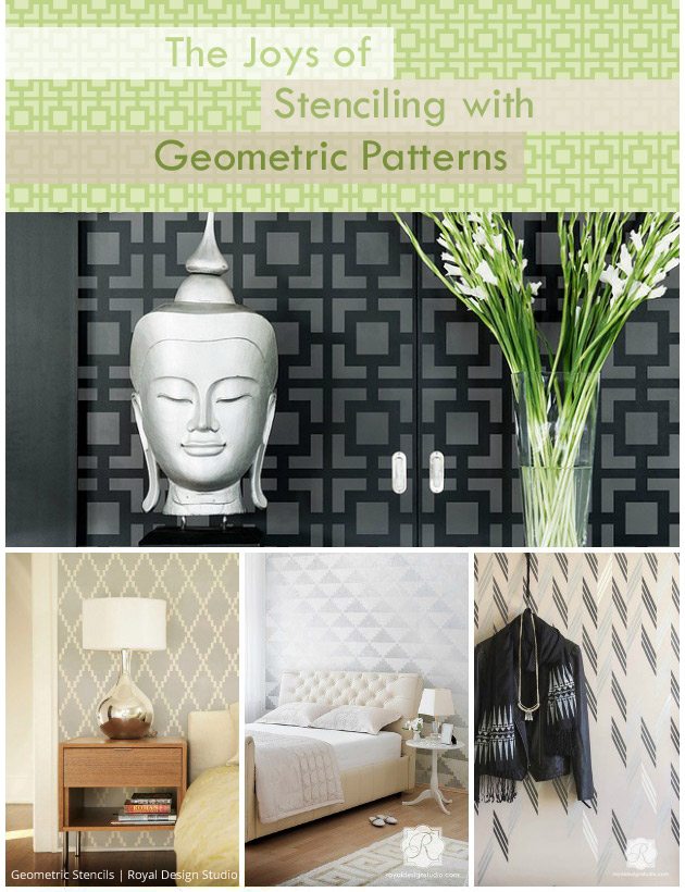 The Joys of Stenciling with Geometric Patterns | Paint + Pattern