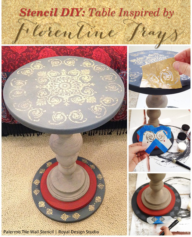 Stencil DIY: Table Inspired by Florentine Trays | Paint + Pattern