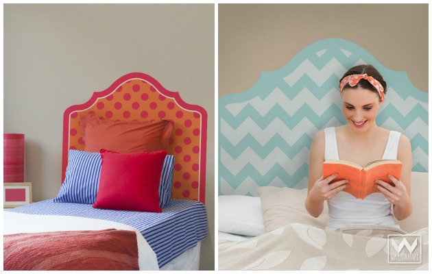 Give your beds a cozy look with Headboard Wall Decals by Wallternatives | Paint + Pattern