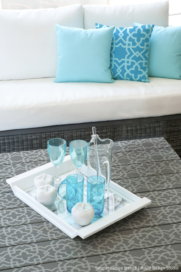 Small Tangier Lattice Stencil | Royal Design Studio