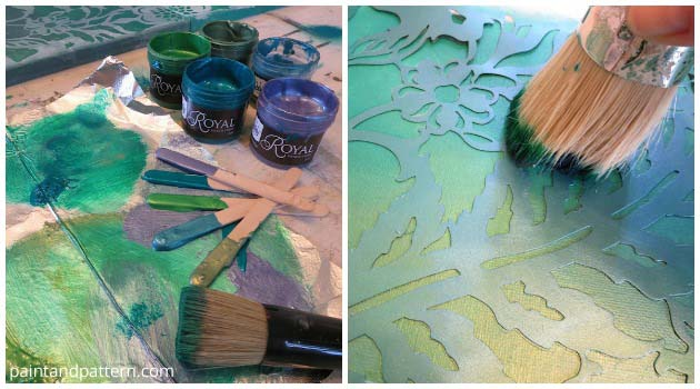 Stencilng with Royal Stencil Cremes | Paint + Pattern