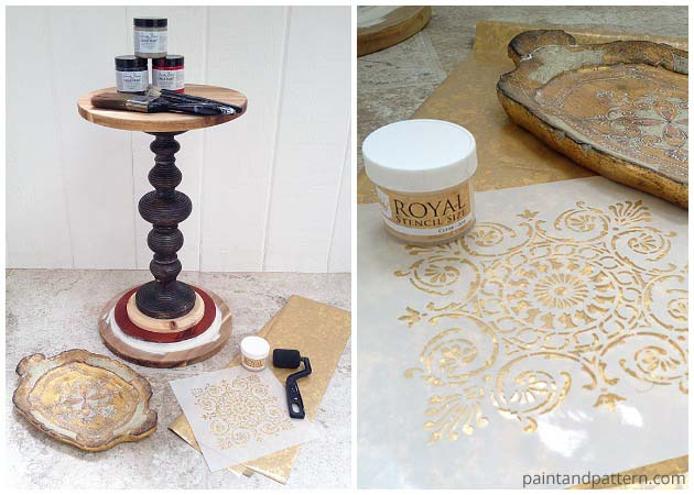 Stencil Supplies for DIY Side Table | Paint + Pattern