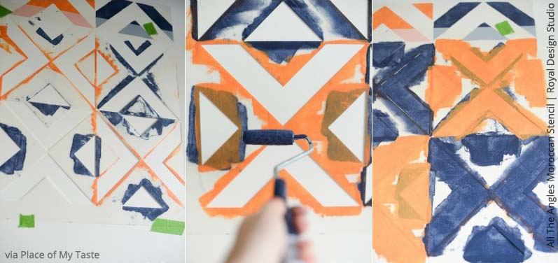 All the Angles Morrocan Stencil by Royal Design Studio | Paint + Pattern
