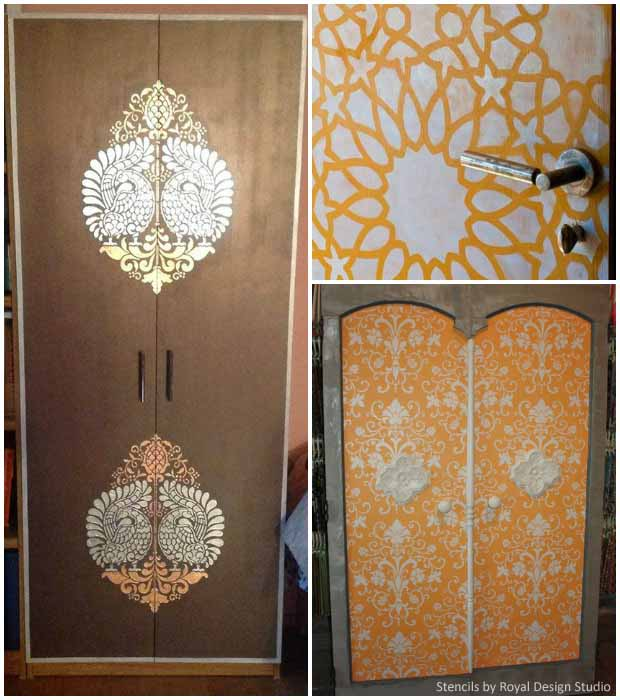 Stenciled Doors with Royal Design Studio Stencils