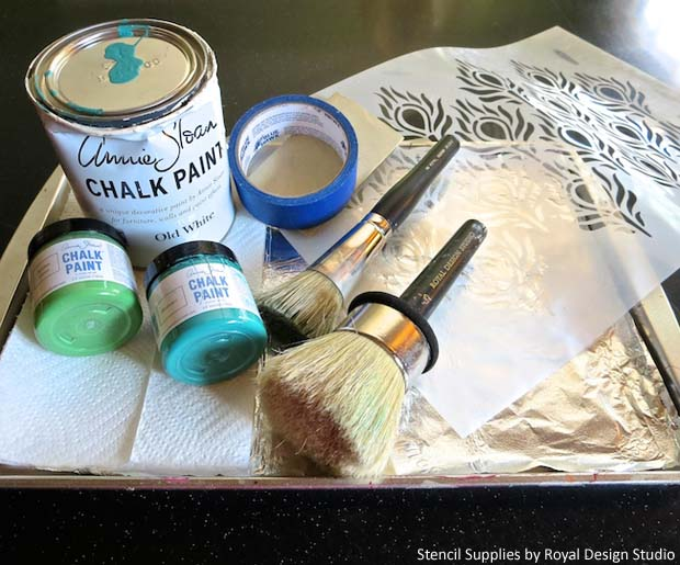 Stencil Supplies for Outdoor Bench DIY   Paint + Pattern