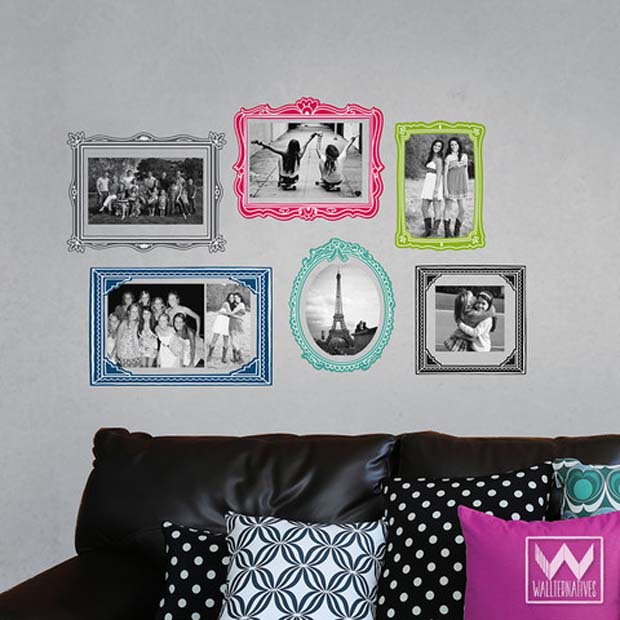 Photo Frame Wallprints™ Fabric Decal Set | Wallternatives Wall Decals