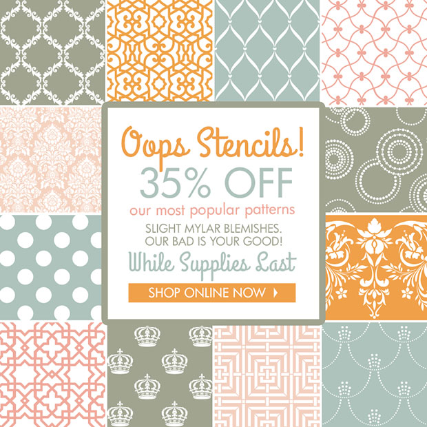 Oops Stencils at 35% OFF while supplies last | Royal Design Studio