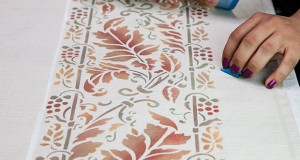 Thanksgiving DIY: Stencil a Harvest Border for Your Table-Cloth