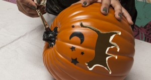 Halloween Stencils to Carve a Faux Pumpkin