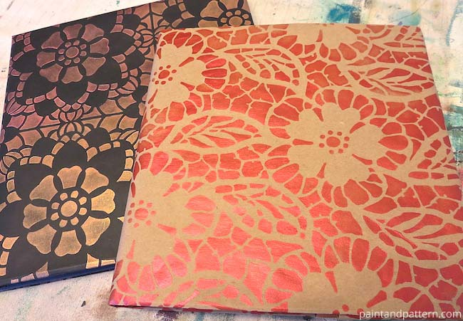Stencil Diy Back To School Book Covers Paint Pattern