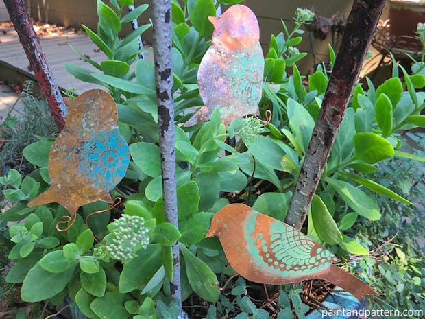 DIY Garden Ornaments | Paint + Pattern