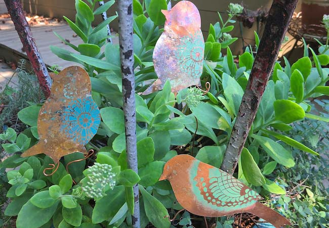 Use Stencils to Create DIY Garden Ornaments - Paint + Pattern