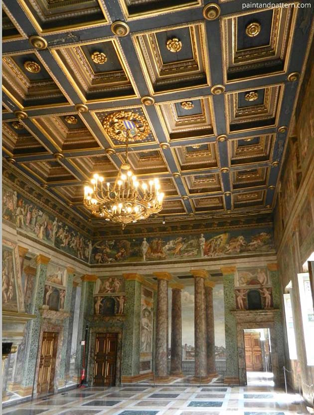 Hall of Perspective at Villa Farnesina | Paint + Pattern