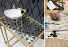 IKEA Stencil Hack: Transform a Vittsjo Table with Stenciling