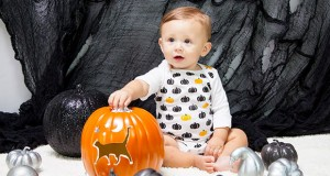 Stencil Halloween Onesies for Your Little Pumpkin